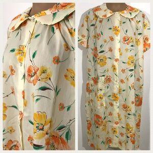 NOS Vintage Snap Front Robe JC Penney Misses Robe
